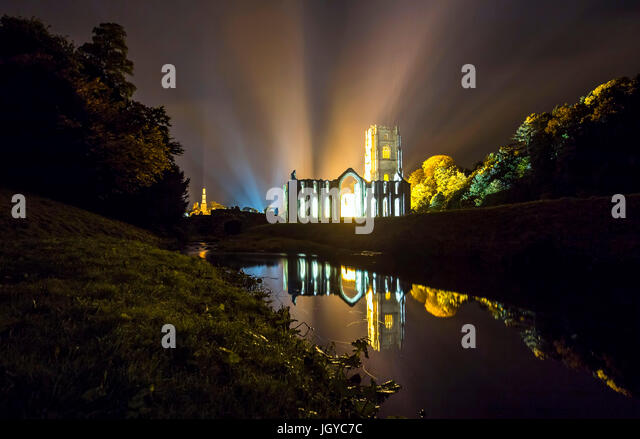 Fountains Abbey - Stock Image
