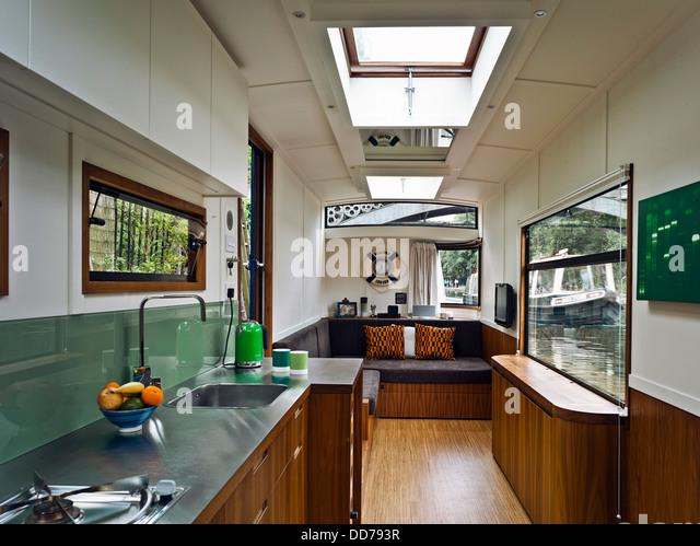 Modern Narrowboat Interior - home decor - Christianapparel.us