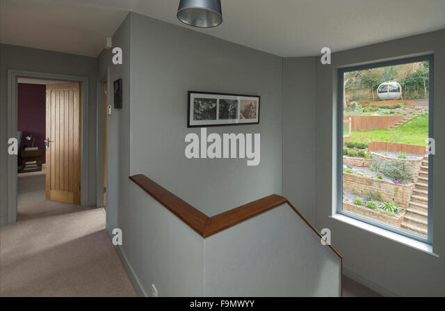 Landing And Staircase In A Modern Family House   Stock Image