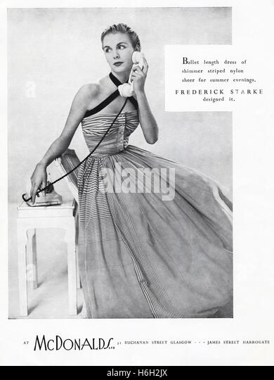 Haute couture 1950s stock photos haute couture 1950s for Haute in english