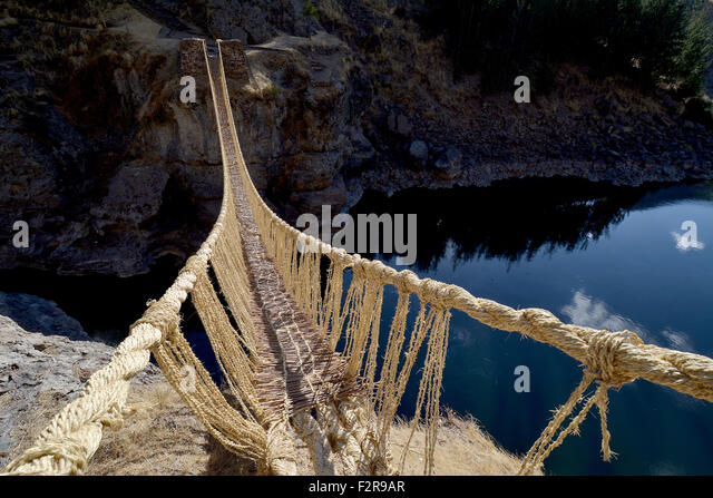 how the incas built bridges over Start studying inca empire learn vocabulary -the inca built bridges to make travel easier-they built suspension bridges over the gorges in the andes.