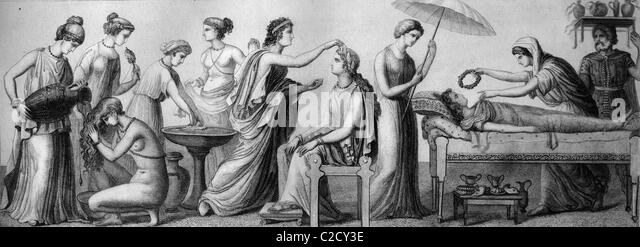 women's life in ancient greece through Ancient athenian women what was the role of women in athens to live,  controlled by the men in their lives their father controlled them before they were .
