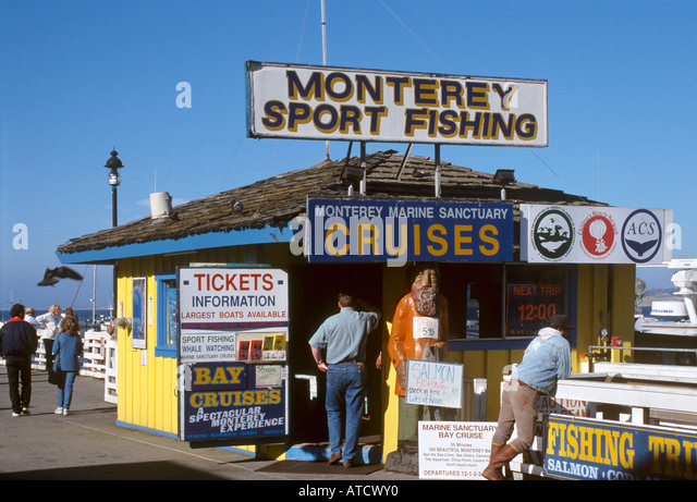 California old fishermans wharf monterey people stock for Monterey sport fishing