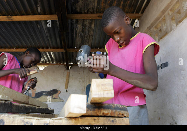 Dpa The Picture Shows Two Boys At Handicrafts As Preparation For