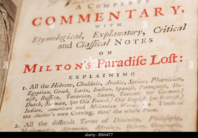 milton paradise lost commentary Need help with book 3 in john milton's paradise lost check out our revolutionary side-by-side summary and analysis.