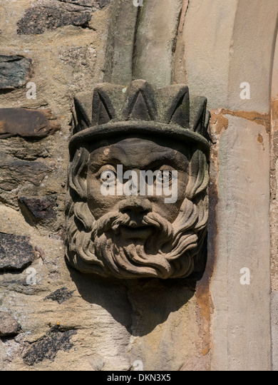 Carved stone decoration stock photos