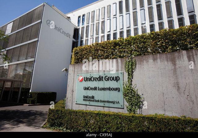 UniCredit International Bank Building, Kirchberg District, City Of  Luxembourg, Europe   Stock Image Nice Ideas