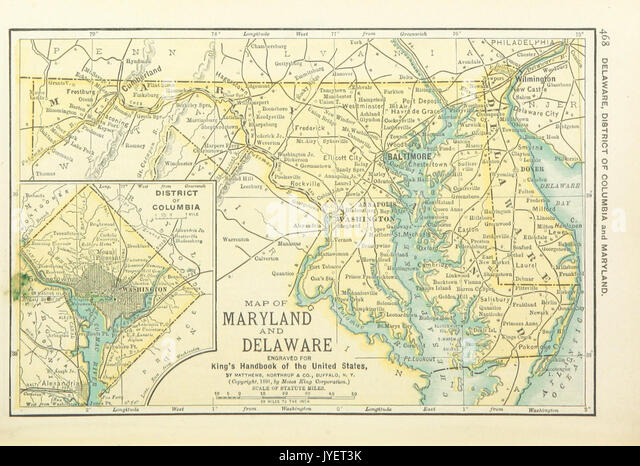 Us Maps 1891 P470 Map Of Maryland Delaware And District Of Columbia