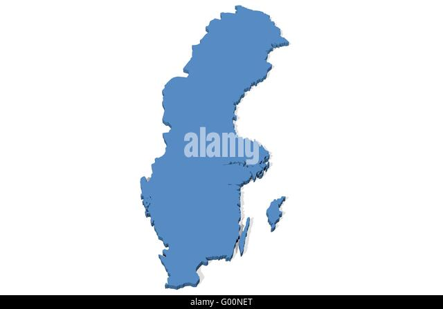 Sweden Map Stock Photos Sweden Map Stock Images Alamy - Sweden map 3d