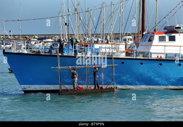 Ship maintenance stock photos ship maintenance stock for Floating fishing platform