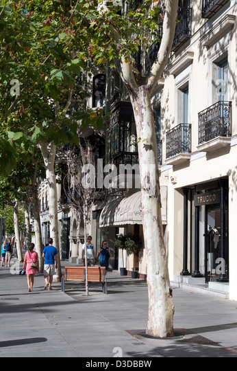 Serrano Street Madrid Stock Photos & Serrano Street Madrid ...