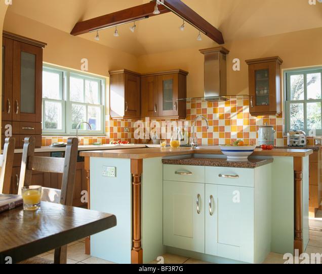 Kitchen Tiles Orange: Orange And White Tiles Stock Photos & Orange And White Tiles Stock Images