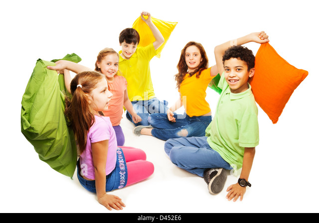 Traditional Pillow Fight : African American Children Fighting Stock Photos & African American Children Fighting Stock ...