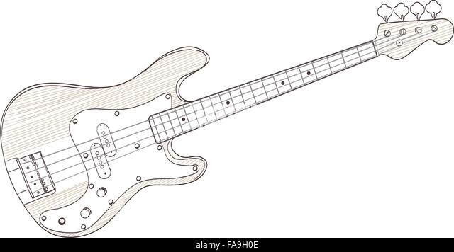 Line Art Guitar Stock Photos & Line Art Guitar Stock ...