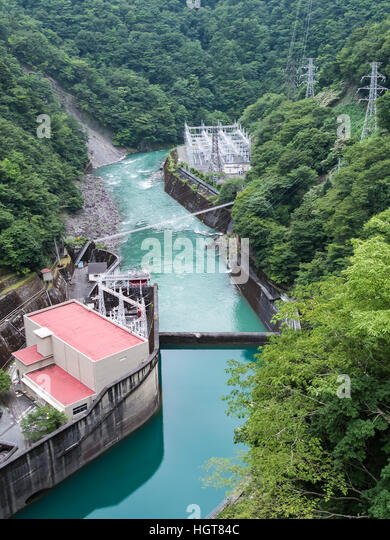Dam at night. Beautiful industrial <b>landscape</b> with dam ...