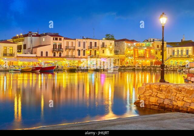 Old Venetian Port, Rethymno, Crete, Greece - Stock Image