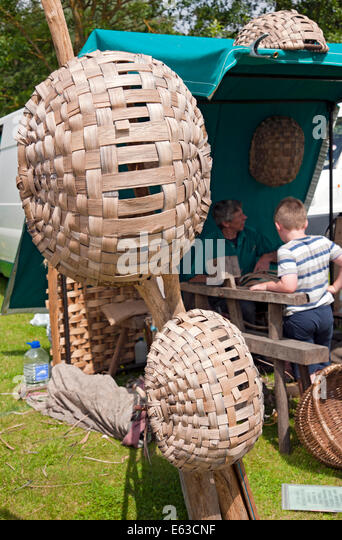 Handmade Swill Basket : Driffield show stock photos images