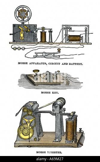 Wiring Diagram Telegraph Key : Morse telegraph stock photos