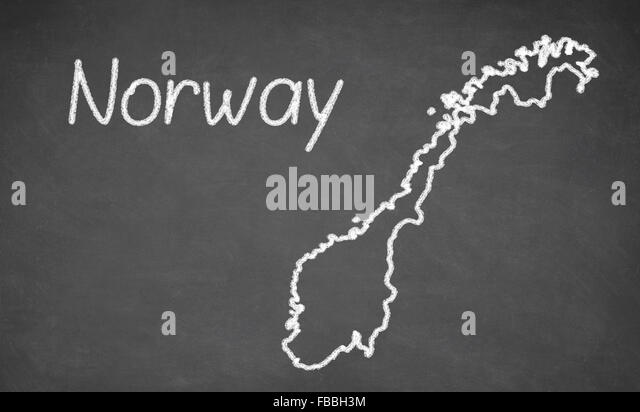 Norway Map Stock Photos Norway Map Stock Images Alamy - Norway map drawing