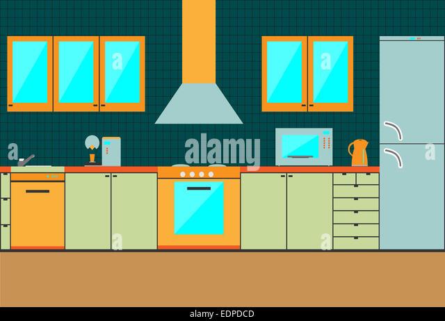 Kitchen Cabinet Cartoon Stock Photos & Kitchen Cabinet