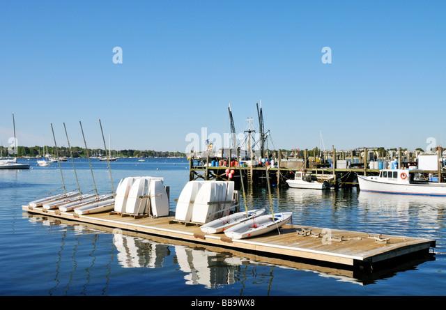 Pier harbor rowboat stock photos pier harbor rowboat for Fishing newport ri