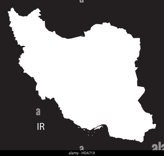 Black Iran Map Stock Photos Black Iran Map Stock Images Alamy - Iran map