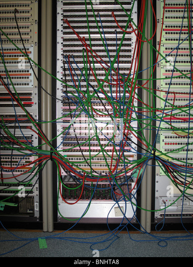 rack mounted server stock photos rack mounted server stock coloured wires extending from tall computer servers stock image
