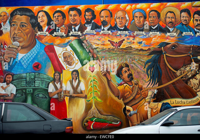 Chicano park mural stock photos chicano park mural stock for Chicano mural art
