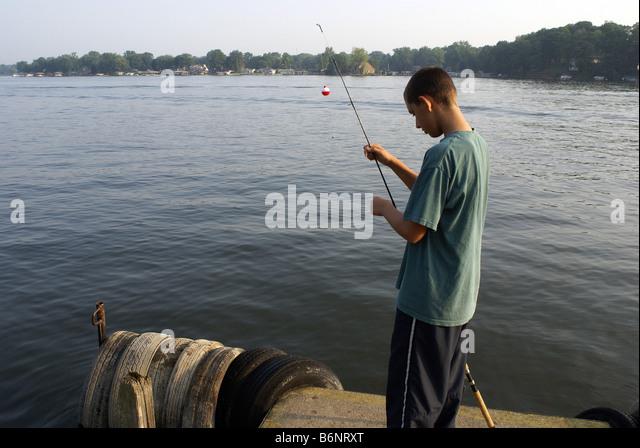 Boy On A Wharf Stock Photos Boy On A Wharf Stock Images Alamy