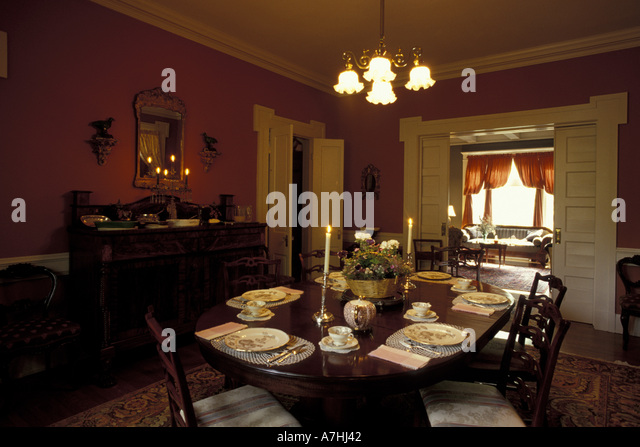 NA USA Kentucky Lexington Dining Room In A Victorian Bed And Breakfast