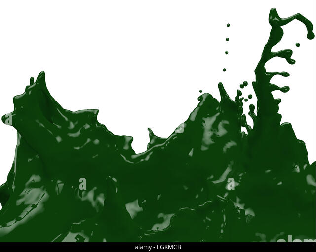 Dark Green Paint Splatter Egkmcb