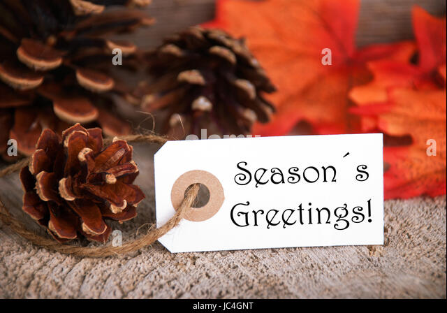 Seasons autumn fall season seasons greetings stock photos seasons an autumnal label with the words seasons greetings fall background stock image m4hsunfo