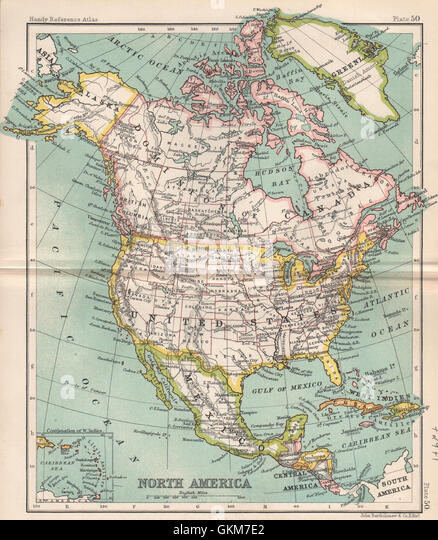 North America Dominion Of Canada United States Bartholomew 1904 Old Map