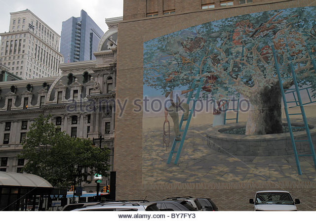 Penn square stock photos penn square stock images alamy for City of philadelphia mural arts program