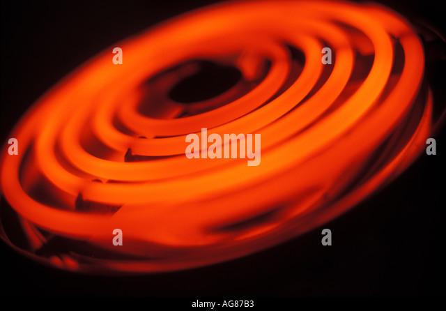 hot stove top. red hot stovetop burner - stock image stove top r