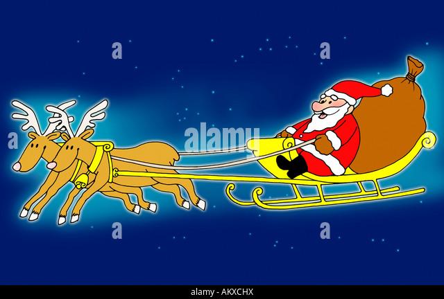 Reindeer Sleigh Stock Photos & Reindeer Sleigh Stock ...