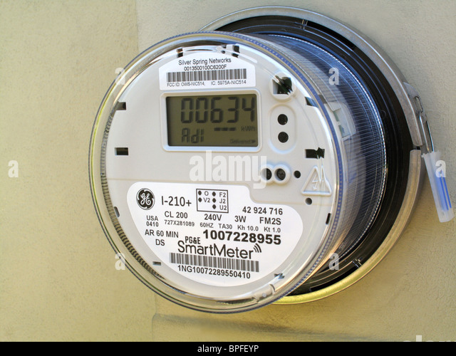 Traditional Power Meter : Residential electric meter stock photos