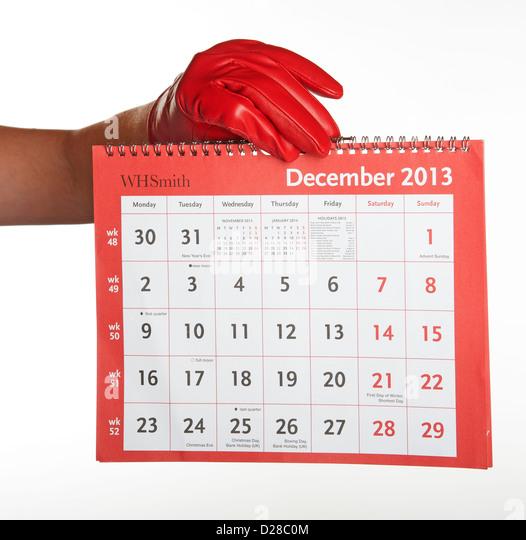 Calendar Year End : December days calendar stock photos
