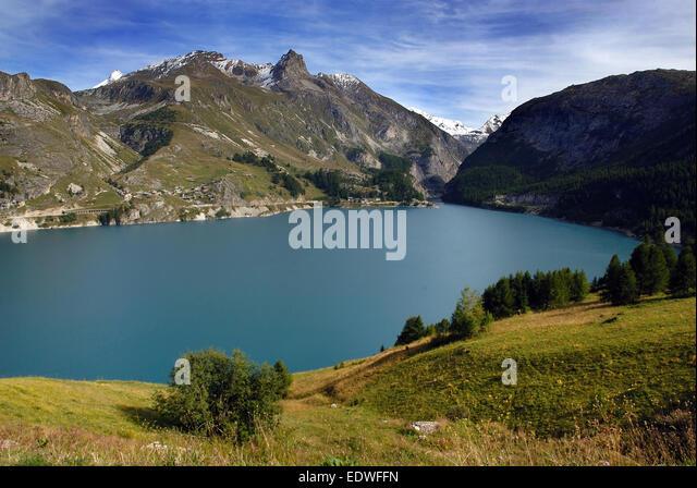 Lac du chevril reservoir stock photos lac du chevril reservoir stock images alamy - Lac du chevril ...