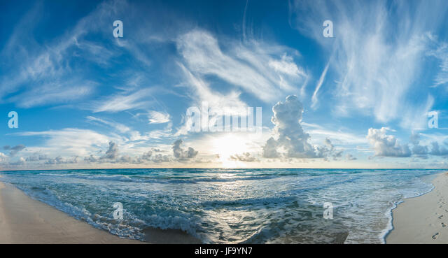 tropical beach panorama - Stock Image