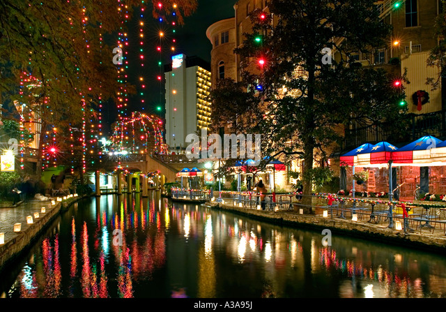 San Antonio River Walk Christmas Stock Photos & San Antonio River ...
