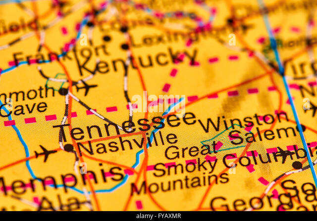 Tennessee State Map Stock Photos Tennessee State Map Stock - Tennessee state map