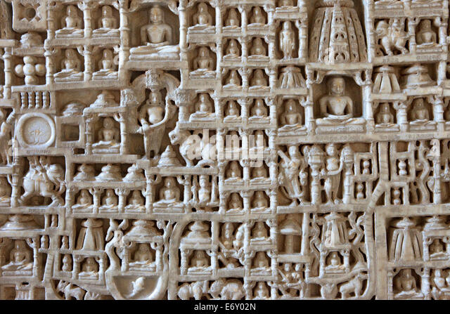 Temple wall carvings stock photos
