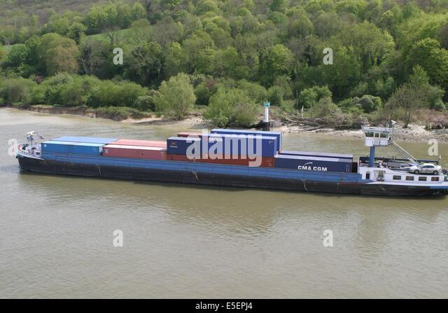 Conteneurs stock photos conteneurs stock images alamy - Grand port maritime de rouen ...