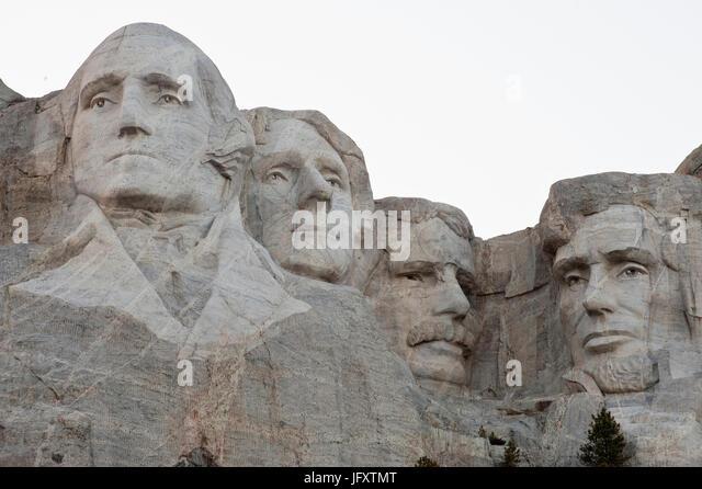 Four presidents stock photos