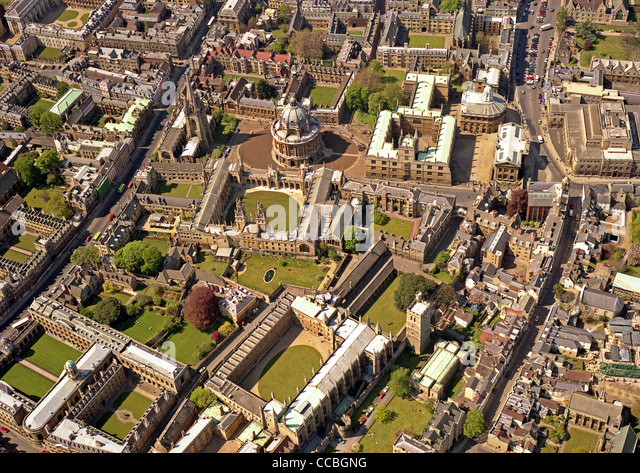 Oxford From The Air Stock Photos Oxford From The Air