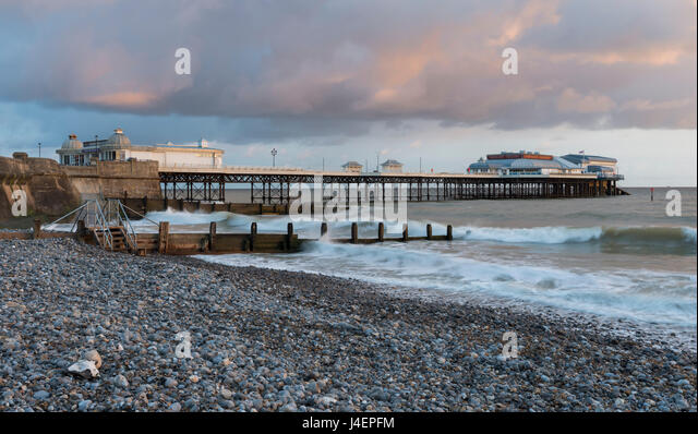 A beautiful sky on a spring morning at Cromer, Norfolk, England, United Kingdom, Europe - Stock Image