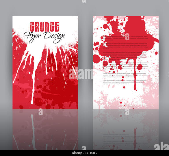 double sided flyer template grunge stock photos double sided