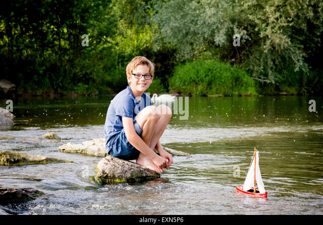 Lillle Boy Toys Boats : Toy boat stock photos images alamy