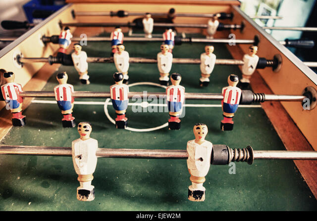 Football at wooden goal stock photos football at wooden for Table th visible
